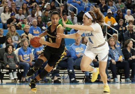 Satou Sabally makes a move toward the basket. Maria Noble/WomensHoopsWorld.