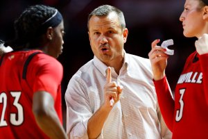 Coach Jeff Walz has turned the Louisville Cardinals into an elite team since taking the helm of the program in 2007. Photo by Adam Creech.