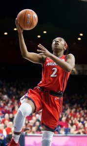 Redshirt sophomore guard Aarion McDonald is Division I's third-leading scorer, and is tops in the Pac-12 Conference. Rebecca Sasnett/Arizona Athletics.