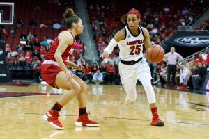 Asia Durr's dominance throughout her Louisville career has propelled her team to great heights. Adam Creech/University of Louisville photo.