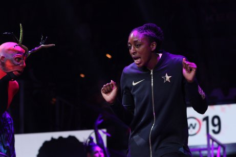 Saturday, July 27, 2019 - Team Wilson in action against Team Delle Donne during the WNBA All-Star Game at Mandalay Bay in Las Vegas, NV. (Maria Noble)