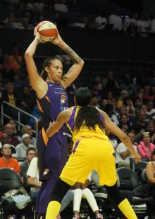 Thursday, August 8, 2019 - The Los Angeles Sparks in action against the Phoenix Mercury at Staples Center in Los Angeles, California. (Maria Noble)