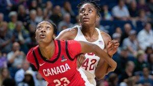 Kayla Alexander boxes out Nneka Ogwumike. Syracuse Athletics photo.