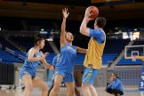 October 29, 2019 - Jaden Owens defends at the UCLA Bruins women's basketball team preseason practice at Pauley Pavilion in Los Angeles, California. Maria Noble/WomensHoopsWorld
