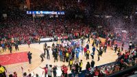 After Game 5 of the WNBA finals between the Connecticut Sun and the Washington Mystics at Entertainment and Sports Arena, Washington, DC, USA on October 10, 2019. Photo Credit: Chris Poss