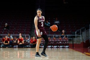 Chennedy Carter made her mark from the moment she arrived at Texas A&M. Maria Noble/WomensHoopsWorld