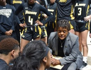 Coach Diane Richardson guided Towson to a Colonial Athletic Association championship last season. Photo courtesy of Towson Athletics.