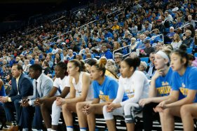 Pauley Pavilion was sold out for Sunday's UCLA-USC match up. Maria Noble/WomensHoopsWorld