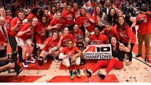Dayton beat VCU for the Atlantic-10 Tournament championship four days before the NCAA Tournament was cancelled. Photo courtesy of Dayton Athletics.
