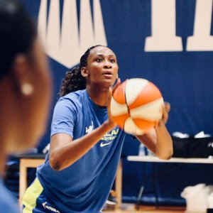 Astou Ndour brings her talent to the Wings after playing the last two seasons for the Chicago Sky. Photo courtesy of Dallas Wings.