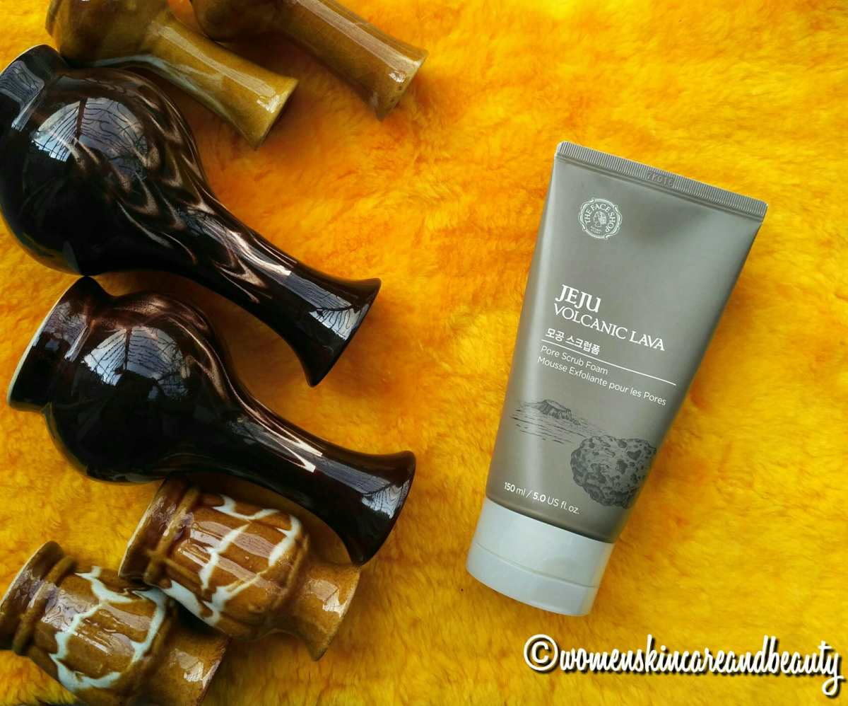 The Face Shop Jeju Volcanic Lava Pore Scrub Foam Review