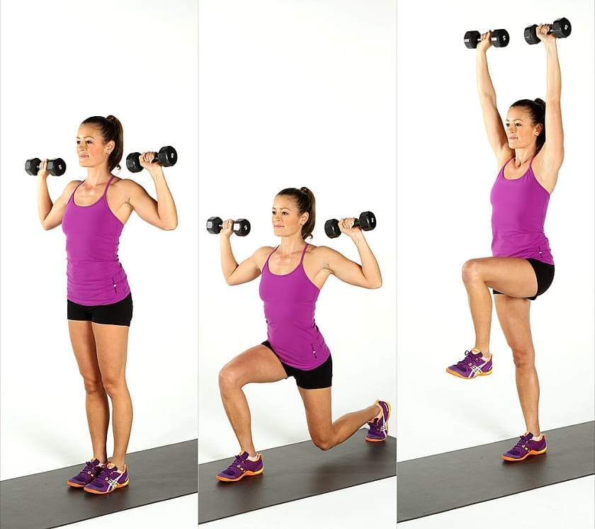 Weighted Lunges_Five Best Butt Exercises