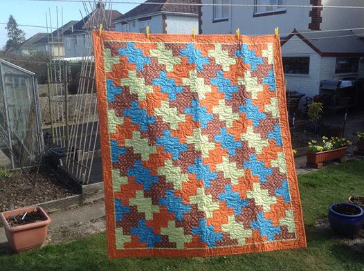 This is the quilt my mum made.