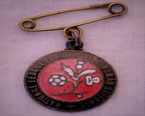 National League for Opposing Women's Suffrage badge
