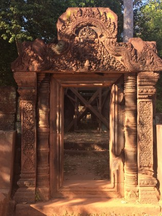 The red stone and intricate carvings of Bantey Srey