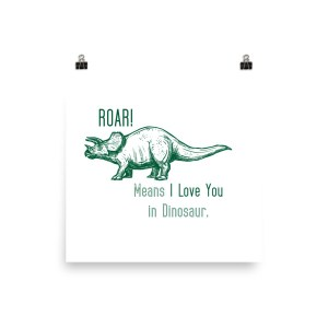 Dinosaur Roar Poster