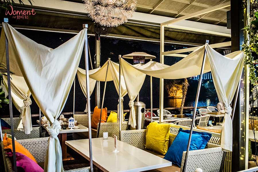 新北景觀餐廳【戶外座位區】 半開放式用餐空間,7間高評價餐廳【浪漫夜景、城市街景、河畔美景】盡收眼底!享受美食之餘還有超質感用餐氛圍