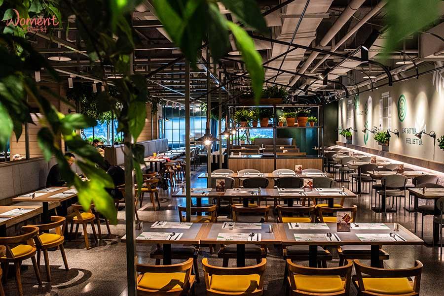 蔬食素食餐廳-吃到飽推薦果然匯 - 舒適用餐環境,簡約清新風格