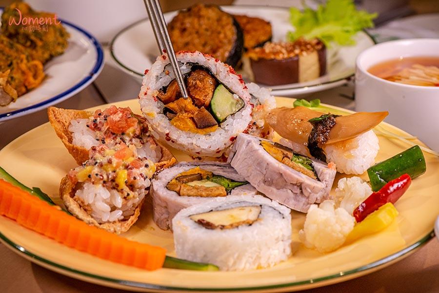 蔬食素食餐廳-吃到飽推薦果然匯 - 創意壽司