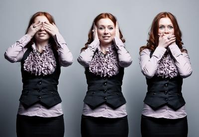 Business woman clone