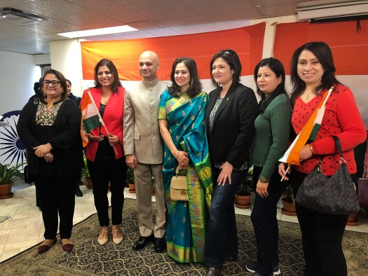 With CG India in Toronto 69th Republic Day celebrations