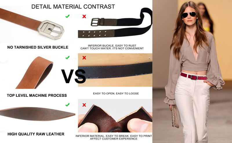 Kamos Beauty Reversible Leather Belt for Women 1