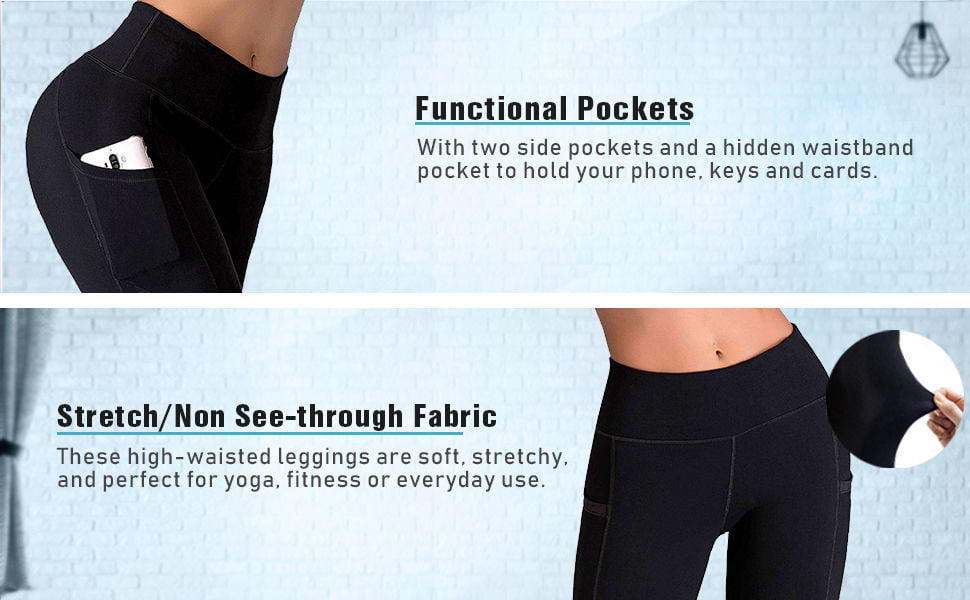 IUGA High Waist Yoga Stretch Yoga Leggings with Pockets 1