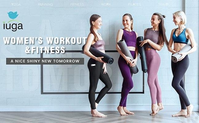 IUGA High Waist Yoga Stretch Yoga Leggings with Pockets