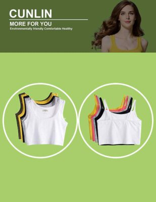 cunlin Summer Sexy Crop Top Bandage Slim Sleeveless Top for Women