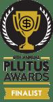 9th annual plutus awards finalist badge