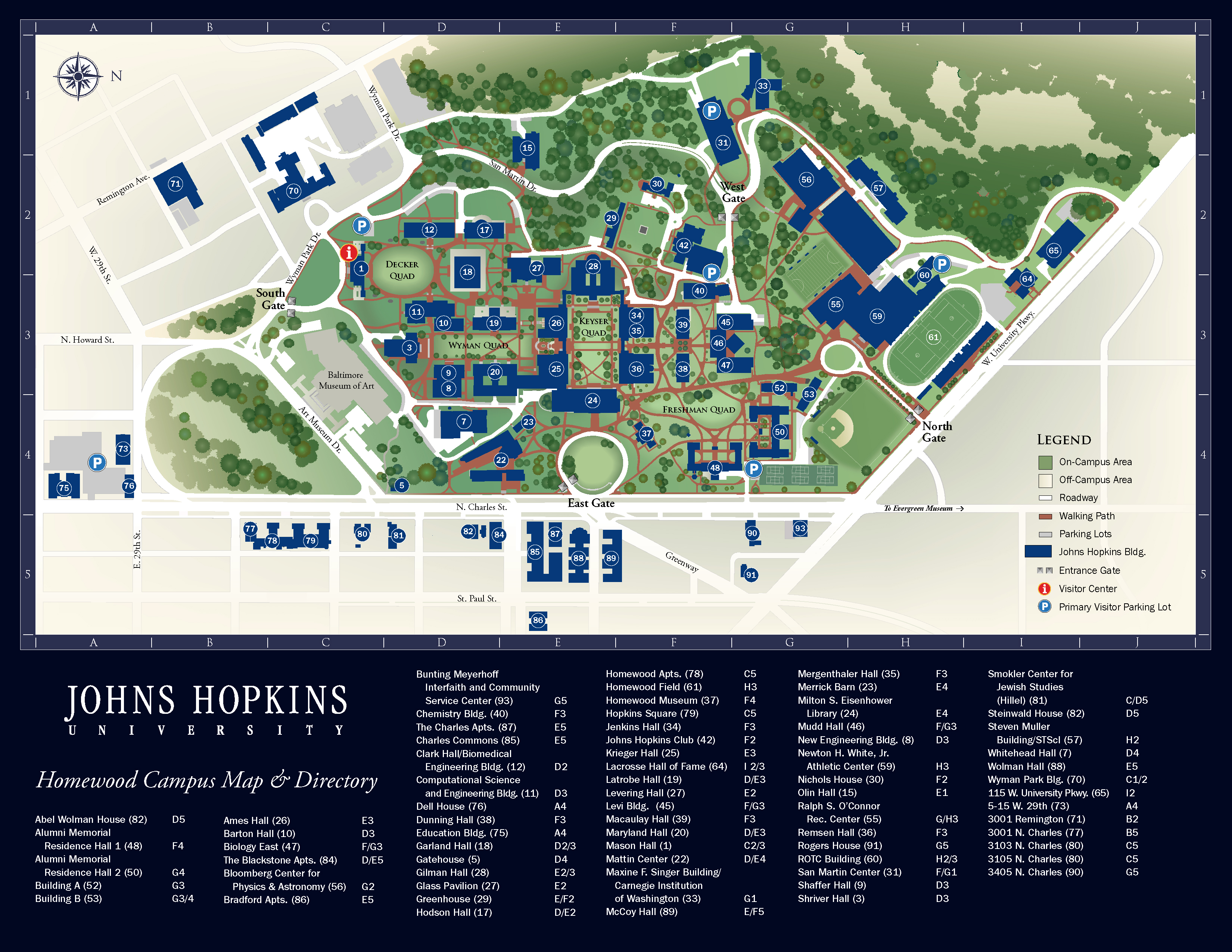 Campus map, Maps and Johns hopkins on Pinterest