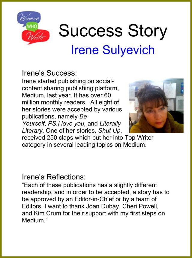 Writing Success Stories  Women Who Write  A Place, A Space, A