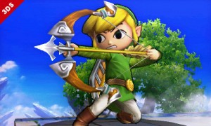 Toon Link, Super Smash Bros 3DS, Nintendo, image from the Examiner, 2014