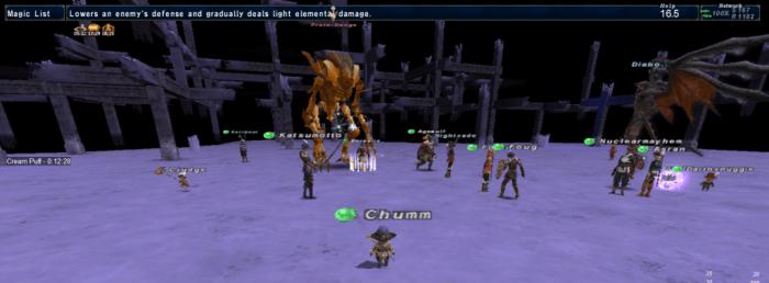 Fighting Proto-Omega in Final Fantasy XI