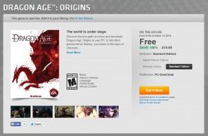 Screencap from Origin website.