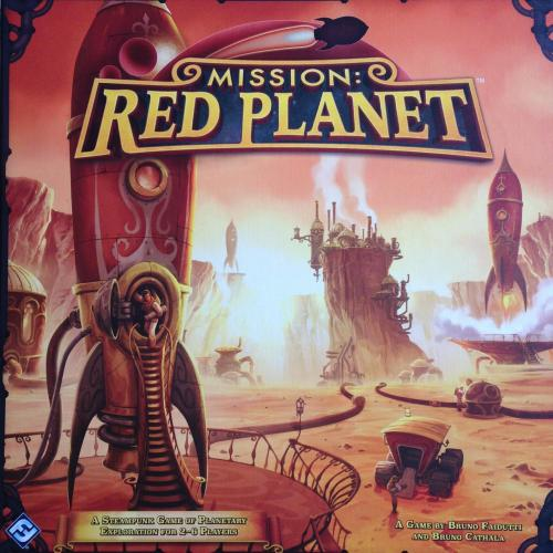 Photo by Anna Tschetter Mission: Red Planet Designer Bruno Cathala Bruno Faidutti Artist Andrew Bosley Publisher Fantasy Flight Games Galakta Heidelberger Spieleverlag Year Published 2015