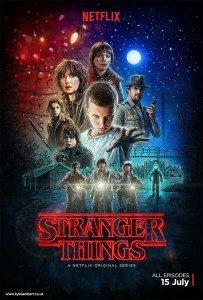 Stranger Things poster - Netflix 2016 - Illustration by Kyle Lambert