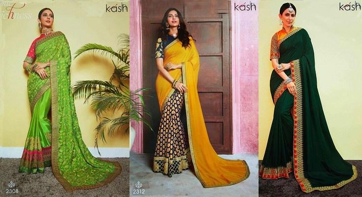Embroidered Art Silk Party Wear Designer Sarees Womenz Fashion