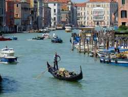 Venedig 11 Gondoliere am Canal Grande