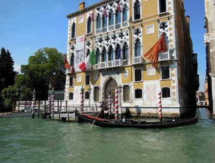 Venedig 13 Gondoliere am Canal Grande