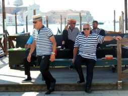 Venedig 9 Gondoliere am Canal Grande