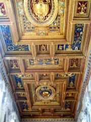 Rom 9 - Lateranbasilika 6 vergoldete Decke