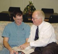 Pastor teaching the Bible.