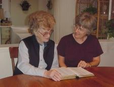 Older ladies mentoring younger.