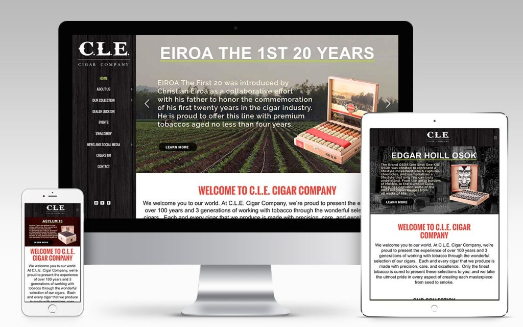 CLE Cigar Company Web Design