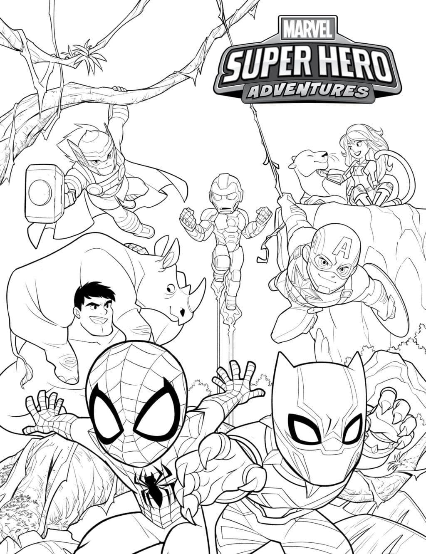 100 Disegni Di Supereroi Da Colorare Grande Collezione Di