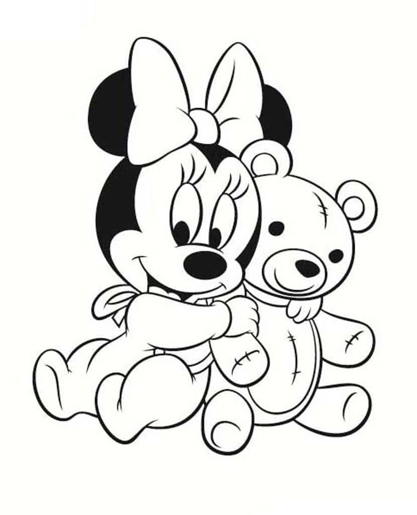 Coloriage Minnie Mouse Pour Les Enfants Wonder Day Coloriages Pour Enfants Et Adultes