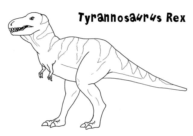 Tyrannosaurus Coloring pages — Free coloring pages