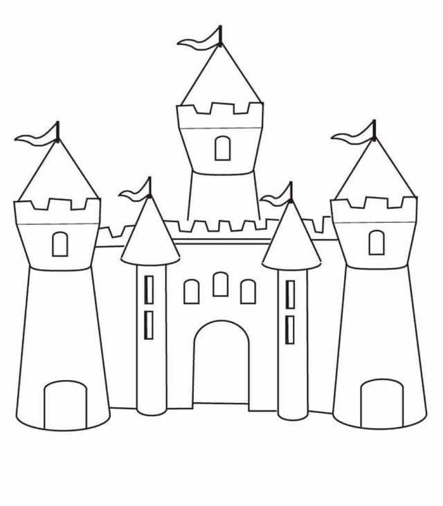Coloriage Château - Coloriages pour Imprimer  WONDER DAY