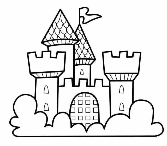 Ausmalbilder Burgen und Schlösser - 18 Ausmalbilder zum ausdrucken